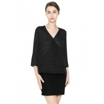 Bluza Dama Eleganta neagra cu buline