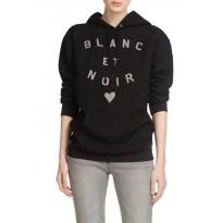 Bluza de dama neagra cu imprimeu