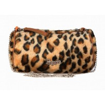 Geanta Segue casual din blanita cu design animal print leopard