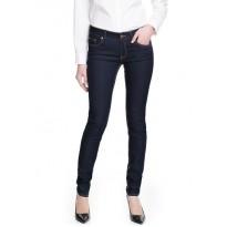 Jeans dama slim-fit cu talie normala, din denim elastic