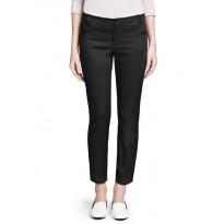 Pantaloni eleganti din bumbac, de culoare neagra
